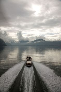 Motoring on a calm day