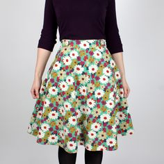 """1206 Hollyburn Skirt by sewaholicpatterns. emma says, """"Easy peasy, you'll learn how to put in a zipper, it has pockets (whoohoo!), and the finished product looks grown up, not like a skating skirt. I made one in this weird textured denim I got on super clearance, and I wear it once a week, probably."""""""