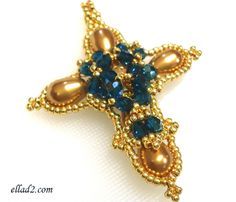 Cross Pendant - Beading Tutorials and patterns by Ellad2