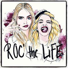 Rita Ora and Cara Delevingne Cartoons Characters to Roc' the Life