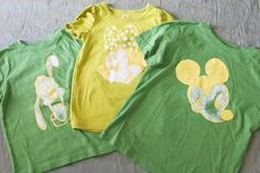 Lots of great ideas for creating matching Disney shirts for your family here, using all different methods and styles.