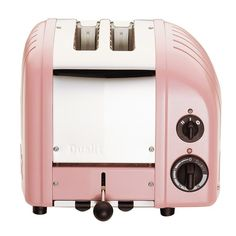 If you could have heard the sound I made when I saw this toaster -- which comes in 20 DIFFERENT COLOR OPTIONS -- I would feel weird. (Dualit New Generation Classic 2-Slice Toaster in Petal Pink via Williams-Sonoma)