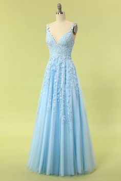 prom dresses long / prom dresses ` prom dresses long ` prom dresses 2020 ` prom dresses short ` prom dresses black girls slay ` prom dresses two piece ` prom dresses blue ` prom dresses long with sleeves Blue Lace Prom Dress, Cute Prom Dresses, Light Blue Dresses, Tulle Prom Dress, Lace Dress, Bridesmaid Dresses, Formal Dresses, Light Blue Wedding Dress, Gorgeous Prom Dresses