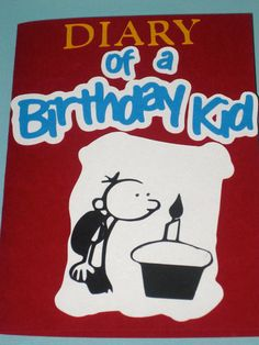 Diary of a Wimpy Kid- Birthday Invitations