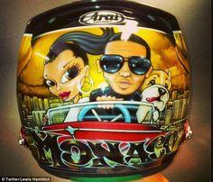 Hamilton's helmet for Monaco 2013