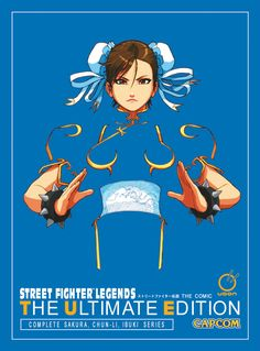 ✌🏿✌🏿✌🏿It's the entire Street Fighter Legends series in a gorgeous, oversized format to catch every detail! Collecting the complete Sakura, Chun-li, and Ibuki comic series, this ultimate collection shows why Street Fighter Game, Capcom Street Fighter, Street Fighter Characters, Super Street Fighter, Sakura Street Fighter, Comics Illustration, Illustrations, Chun Li, Geeks