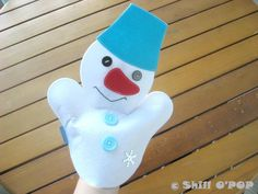 CHRISTMAS SALE Frosty The Snowman Felt Hand Puppet by ShillOPOP