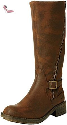 Rocket Dog Tanker Brown Womens Zip Knee Hi Boots-3 - Chaussures rocket dog (*Partner-Link)