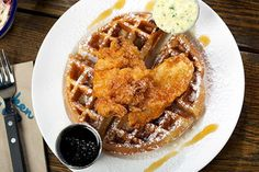 The 10 Best Chicago Brunch Spots You Haven't Tried Yet #refinery29  http://www.refinery29.com/brunch-chicago#slide-6  Soho House Admittedly, the brunch options at Pizza East and Chicken Shop — the two on-site restaurants at this Brit-imported hotel and members' club — are fairly limited. At Chicken Shop, for example, there is the delicious fried-egg sandwich with tomato and avocado, or the fried chicken and waffles (which our server warned is coma-inducing), but very little else. No matter…