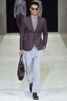 Giorgio Armani Men's RTW Spring 2015 - Slideshow  Like jacket fabric/color.