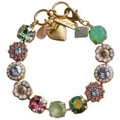 Mariana Gold Plated Large Flower Shapes Swarovski Crystal Bracelet. Available at www.regencies.com