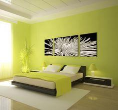 Calme et volupté avec ce tableau design fleur blanche en trois panneaux ...