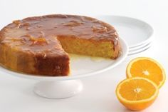 another flourless orange cake - this one with its own orange syrup. Food Cakes, Cupcake Cakes, Cupcakes, Gluten Free Cakes, Gluten Free Baking, Gluten Free Recipes, Flourless Orange Cake, Flourless Cake, Bolos Light