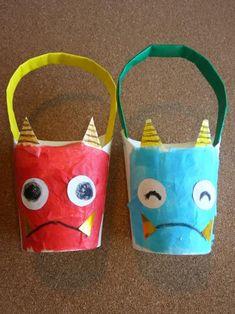 豆まきがより楽しくなっちゃいそうな、鬼の顔の升。 持ち手がついているので、豆まきもしやすい♪ 節分にちなんだ製作遊び! Japan Crafts, Paper Art, Crafts For Kids, Reusable Tote Bags, Handmade, Food, Crafts For Children, Papercraft, Hand Made