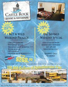 Castle Rock Resort and Waterpark in Branson!