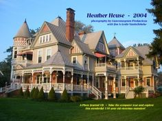 """i used to drive past this breath taking beauty everyday on my way to school. its name is """"the heather house"""" and its located in marine city, michigan. its the finest example of victorian design ive ever seen in person. if only i was born in another era."""