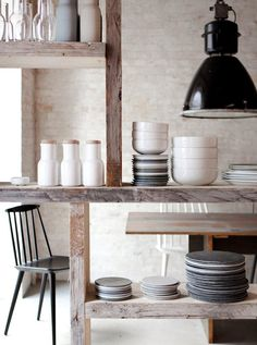 A collection of dinnerware