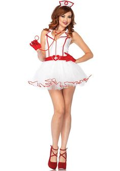 This ravishing RN is ready to nurse you back to health. Sexy women's naughty nurse fancy dress costume by Leg Avenue. Look sexy and sultry in this women's sexy nurse costume. See below for full description and size details.