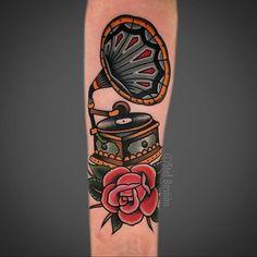 49 Ideas tattoo music old school style Pin Up Tattoos, Music Tattoos, Trendy Tattoos, Foot Tattoos, Forearm Tattoos, New Tattoos, Tattoos For Guys, Tattoos For Women, Tattoos For Music Lovers