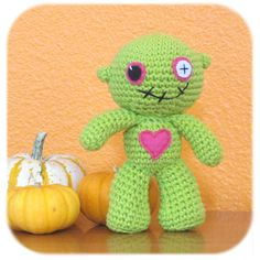 A crocheted zombie doll! Best doll ever! $25.00
