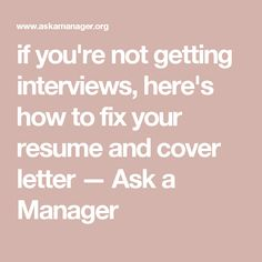Most resumes and cover letters I see suck -- and if you're not getting job interviews, that's probably why! Here's how to fix your resume and cover letter. Manager Resume, Job Resume, Resume Tips, Resume Help, Interview Skills, Job Interview Tips, Job Interviews, Interview Questions, Great Cover Letters