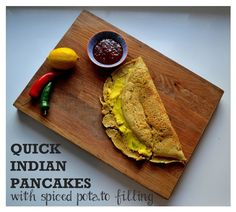 Quick Indian Pancakes www.thevegspace.co.uk