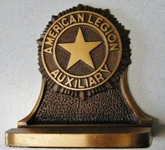 Vintage American Legion Auxiliary Bookends.