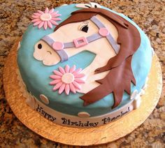 Horse Birthday Cake – testing my skills | Bubbles and Butterflies
