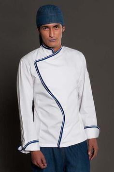 Y hacer una escocesa, o con el tejido gallego??Chef coat from chefalamode.com