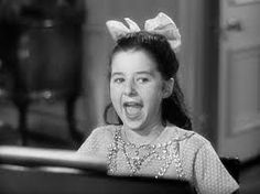 Virginia Weidler as Dinah Lord in The Philadelphia Story, belting out Lydia the Tattooed Lady.