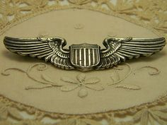 Vintage WWII pilot's wings available on ebay