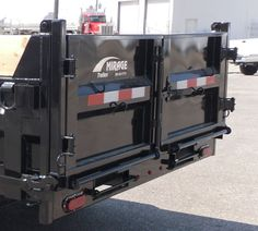 Dump trailer rear barn style doors for Mirage and TNT dump trailers. Trailer Build, Semi Trailer, Car Trailer, Utility Trailer, Dump Trailers, Flatbed Trailer, Landscape Trailers, Homemade Tractor, Horse Barn Plans