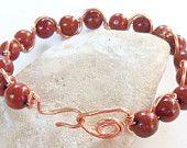Amber bead wave bracelet