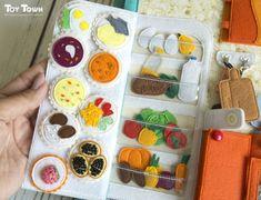 Dollhouse Quiet book with felt doll - Dollhouse Quiet book with felt doll, book for girls, Fabric Felt dollhouse - Diy Quiet Books, Baby Quiet Book, Felt Quiet Books, Felt Diy, Felt Crafts, Felt Doll House, Diy For Kids, Crafts For Kids, Quiet Book Patterns