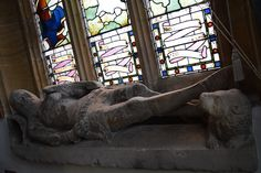 One of the two effigies of Crusader Knights in St Peters church, Dorchester, Dorset. UK  They are said to represent two crusaders from the 'Chidiock Family' founders of a neighbouring Friary from which it is beleived they came from, and may have been brought to St Peter's at the time of the Dissolution of the Monasteries.  It is believed that the crossing of legs meant the knight had either served in the crusades, had taken crusading vows, or more significantly was a Knight Templar