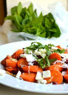 Mint & Coconut Carrot Salad. What a pretty salad