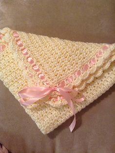 Ribbons of Love Baby Blanket pattern by Jaime Larson