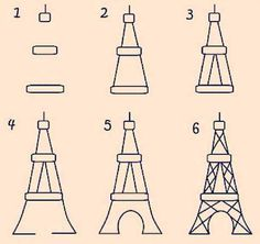 Draw the Eiffel Tower DIY..where has this been? :)