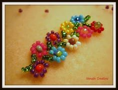 A simple daisy chain is what hooked me on beading in the first place. This is a variation I want to try.