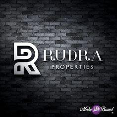 Business #Logo #Designed for Rudra #Properties Located in #Surat  #branding #logo #properties #brand #identitydesign #brandidentity #india #art #graphicdesigbn #logodesign