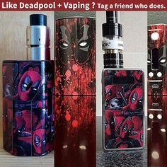 Would you have a mod that looks like this?  Reply and tag people you know that vape and like Deadpool.  #vape#vapelife#vapeporn#vapelyfe#vapecommunity#vapefam#vaping#vapeon#vapestagram#vapedaily#subohm#ecig#vapepics#vapelove#vapenation#vapehooligans#vaper#handcheck#vapers#vapefriends#vapeshop#vapes#vapesociety#vapehard#dripper#vapegram#ecigs#vapegirls#deadpool#wadewilson