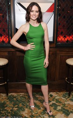 Out of this world: New Star Wars actress Daisy Ridley was also in attendance at the event ...