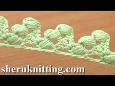 Crochet Lace Tape Puff Stitch Around Post How to Tutorial 16 Lace Trim