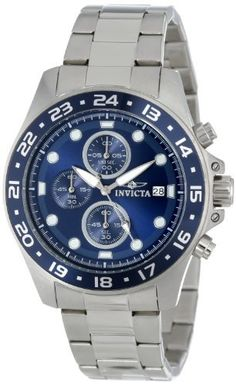 Men's Wrist Watches - Invicta Mens 15205 Pro Diver Chronograph Blue Dial Stainless Steel Watch -- Click image for more details.