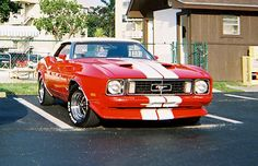 Red 1973 Ford Mustang Convertible