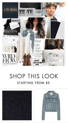 """~ I can make your tears fall down like the showers that are British ~"" by small-lullabies ❤ liked on Polyvore featuring Zara, Dollhouse, Chanel, Again, rag & bone, MTWTFSS Weekday, Boots, dress, louistomlinson and Jeanjacket"