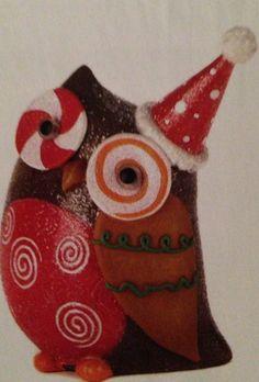 $9.95 Sparkly holiday owl decor.