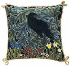 Beth Russell Needlepoint - Forest Collection - Raven Cushion - Kit