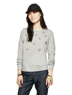 embellished sweatshirt - kate spade new york