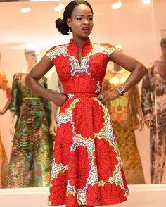 Olajumoke Orisaguna in Stylish Ankara Outfit - Wedding Digest Naija African Print Dresses, African Fashion Dresses, African Dress, African Fabric, African Attire, African Wear, African Women, African Style, African Inspired Fashion